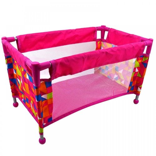 Deluxe Travel Cot Bed Crib Baby Doll Pretend Role Play Toy Cradle Accessories
