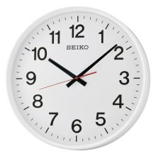 Seiko QXA700W Large Size Wall Clock with Sweep Second Hand - White