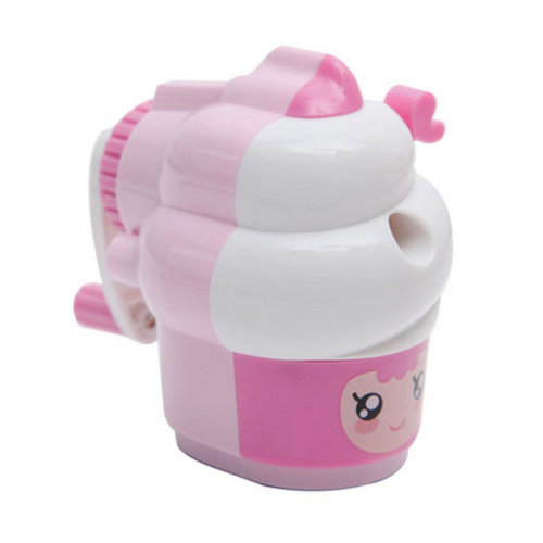 Cute Ice Cream Manual Pencil Sharpener for Office and Classroom ( Pink )