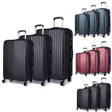 KONO Luggage Suitcase Set Trolley Case Bag PC 4 Wheel Spinner 20 24 28 Inch