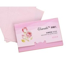 [Rose] 3 Sets Unisex Facial Oil Blotting Papers Oil Control Papers