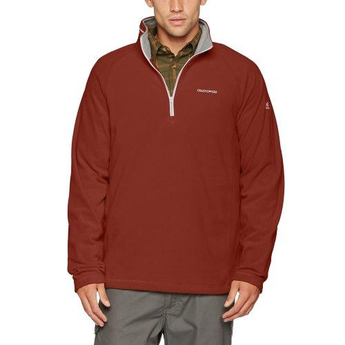 Craghoppers Men's Selby Half Zip Fleece, Red Earth, Large