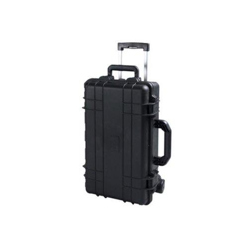 TZ Case CB-022 B Cape Buffalo Wheeled Water Resistant Utility Case, Black - 8.75 x 14 x 22 in.