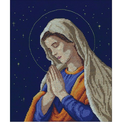 """Janlynn Counted Cross Stitch Kit 9""""X11""""-Madonna (14 Count)"""