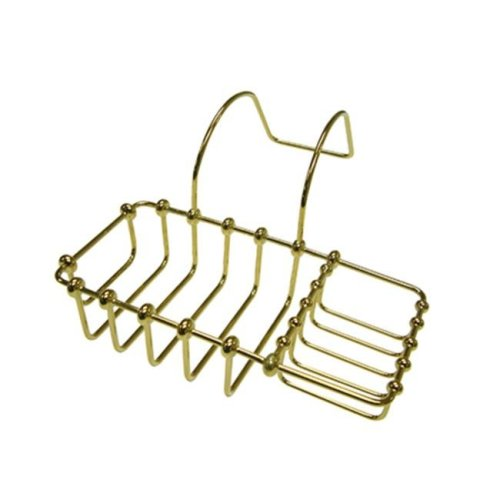 Kingston Brass CC2162 8 Inch Clawfoot Bath Soap & Sponge Holder - Polished Brass