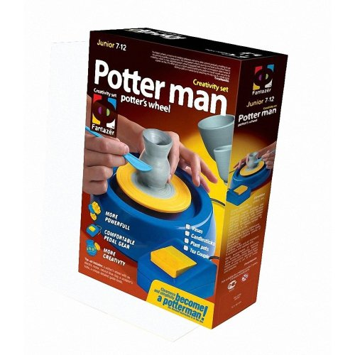 Fantazer Potter Man Potter's Wheel Set - Elf217002 | Kids' Pottery Kit