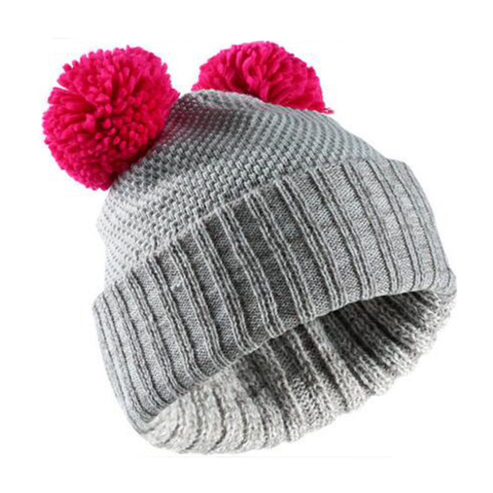 150ba1454ce9c ... Cold Winter Knit Skiing Cap Comfortable Warm Cap Casual Soft Snow Hat  Grey - 1.