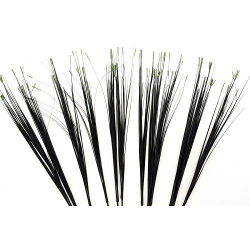 Set of 12 Artificial Colour Tip Grass Spray - 80cm - Black Grass with Green Tips