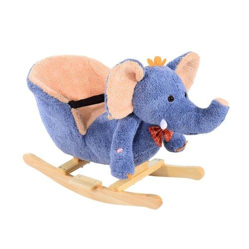 Homcom Kids Rocking Elephant  Seat with Sound (blue)