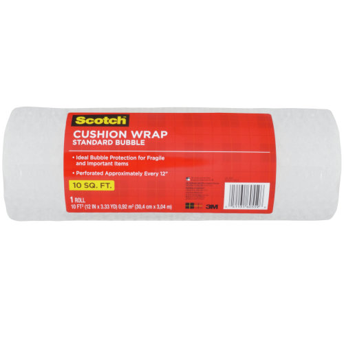 "Scotch Cushion Wrap 12""X10'-Bubble"