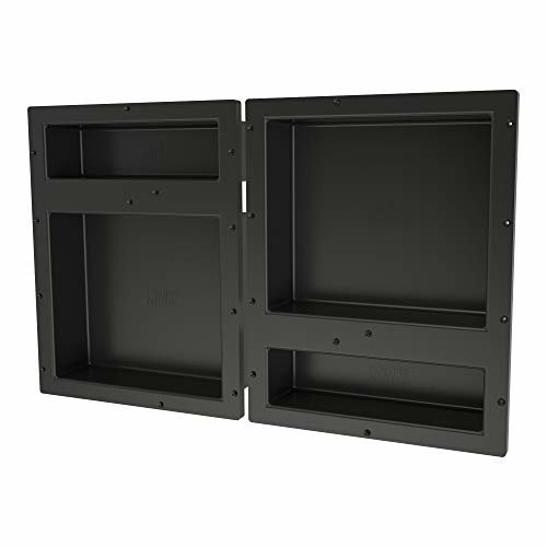 Tile Redi USA RNQH1620DU 20D Redi Niche Shower Shelf 32 W x 20 H Black