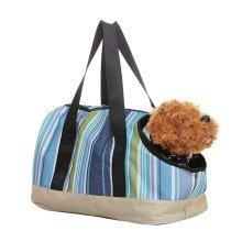 Fashion BLUE GREEN Stripe Soft Pet Carriers Bag For Pets (Suitable for 0-2.5kg)