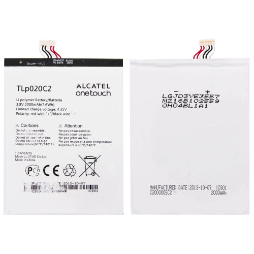 Battery for Alcatel One Touch Idol X Tlp020C2 2000 mAh Replacement Battery
