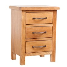 Nightstand with 3 Drawers 40 x 30 x 54 cm Oak