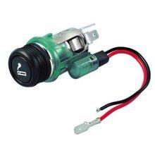 Silver 12v Cigarette Lighter & Power Socket With Green Illumination - Amp Lampa -  cigarette lighter 12v socket power amp lampa