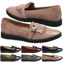 Byrn Womens Flat Slip On Fringed Loafers