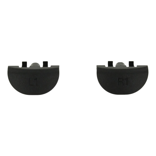 ZedLabz replacement genuine OEM L1 R1 buttons set for Sony PS4 controllers - black