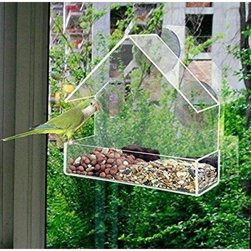 Redwood Leisure Perspex Window Bird Feeder Outdoors Garden Wildlife