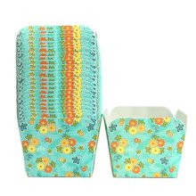 100PCS Lovely Square Baking Paper Cups Cupcakes Cases Cake Cup, No.5