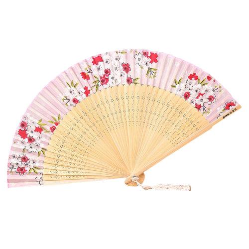 [Chinese & Japanese] Retro Silk Hand Fan Portable Folding Fan Handheld Fan NO.07