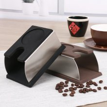 Silicone Coffee Tamper Holder Espresso Making Support Base Stainless Steel Rack Home Shop Coffee