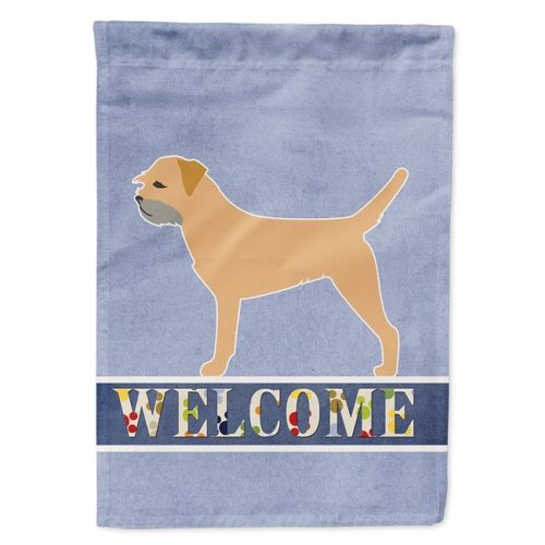 Carolines Treasures BB5493CHF Border Terrier Welcome Flag Canvas House Size