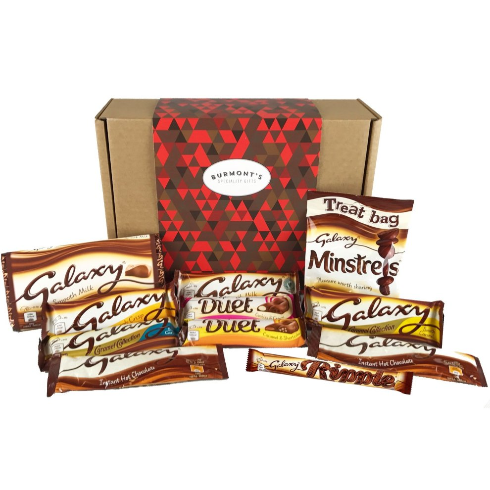 Galaxy Ultimate Chocolate Selection Gift Box Including Ripple Counters Caramel Hot Chocolate Minstrels More Hamper Exclusive To Burmonts
