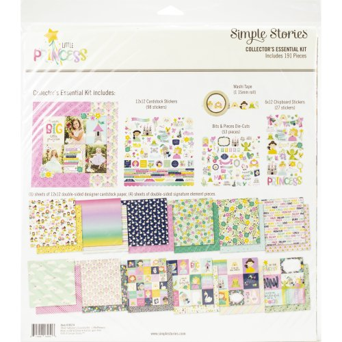 """Simple Stories Collector's Essential Kit 12""""X12""""-Little Princess"""