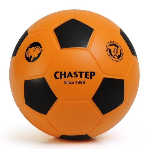 Vigoureux Chastep Normal 8'' Foam Ball Indoor/outdoor Football Soccer Perfect for Kids or Beginner Play and Excercise Soft Kick & Safe (Orange/Black)