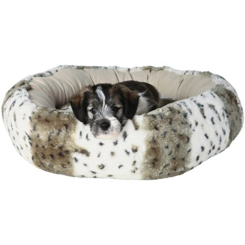 Round Plush Dog Bed for Small Dogs or Puppies