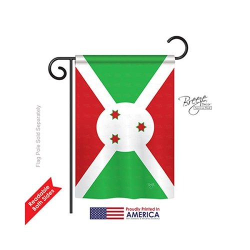 Breeze Decor 58365 Burundi 2-Sided Impression Garden Flag - 13 x 18.5 in.