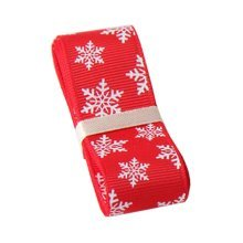 Red Gift Wrapping Streamers Christmas Decor Ribbon [Snowflake]