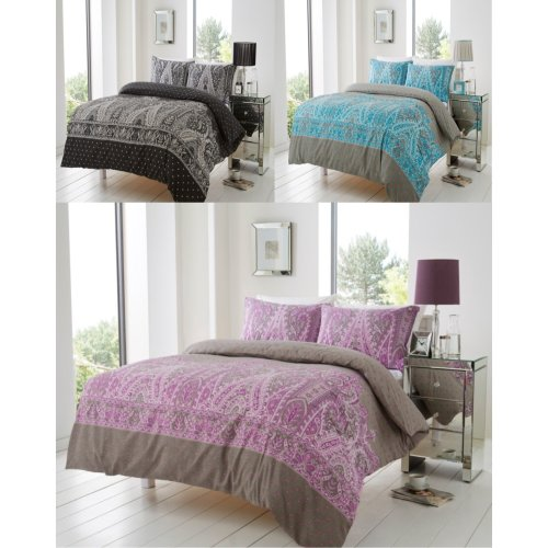 Kensington Floral Modern Duvet Cover Bedding Set All Sizes