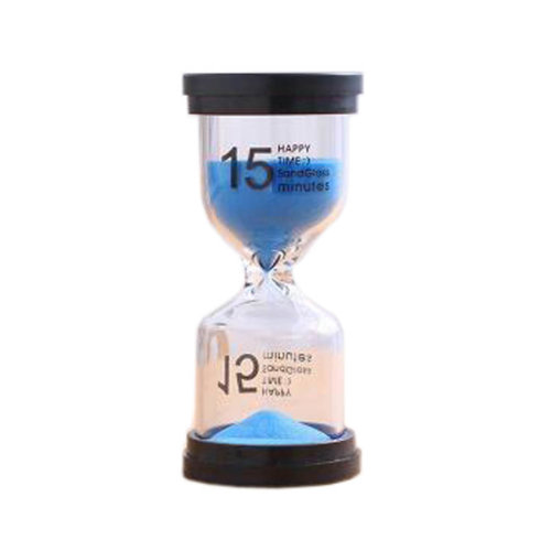 Colorful Sand Timer Hourglass Sandglass Small Ornaments Dropping Ueasily, 15 minutes + Blue