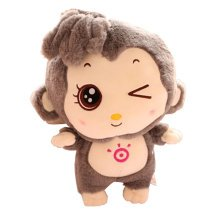 Funny Lovely Monkey Creative Doll Plush Toy Doll,grey A