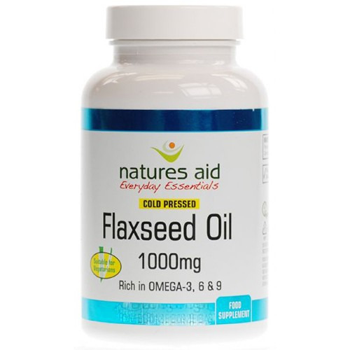 Natures Aid Flaxseed Oil 1000mg 180 Capsules