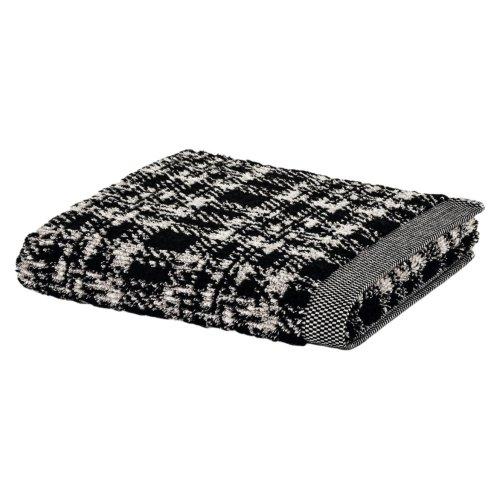 Möve Brooklyn Tartan Hand Towel 50 x 100 CM, Natural/black