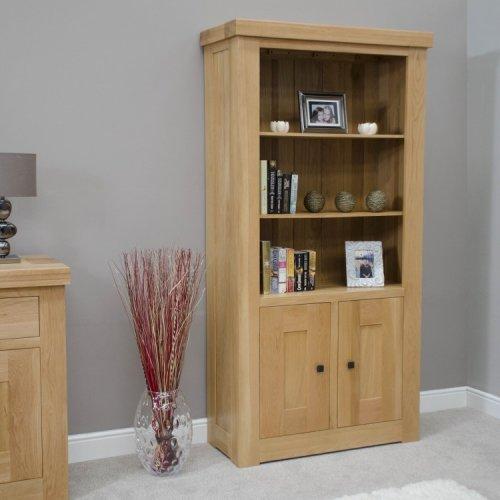 Bordeaux Solid Oak Furniture 2 Door Bookcase