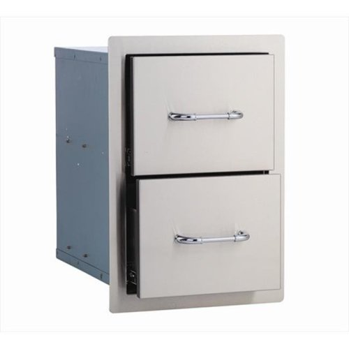 Double Drawer, Stainless Steel
