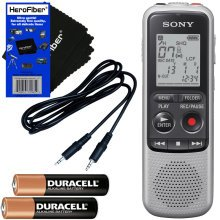 Sony ICDBX140 4GB Digital Voice Recorder - Silver Dictaphone