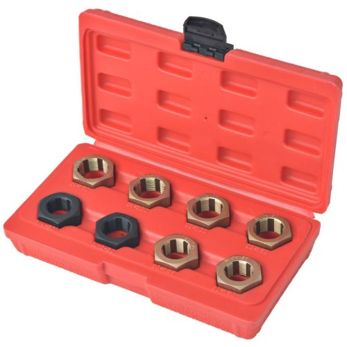 vidaXL 8 Piece Axle Spindle Rethreading Set Thread Repair Tool Car Accessories