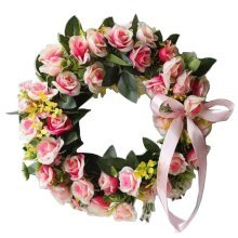 Artificial Wreath Hanging Floral Garland Door Wreath Wedding Decor #10