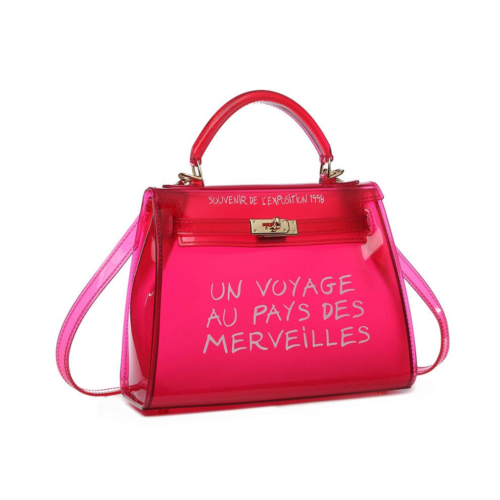 pas mal 89147 b375a Miss Lulu 'Un Voyage Au Pays Des Merveilles' Vinyl Bag