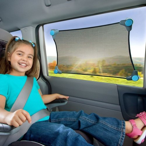 NEW! Munchkin Strech to Fit Car Sun Shade for Baby/Toddler Travel Safety