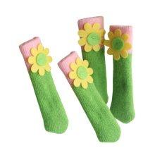 24 PCS Fashion Furniture Floor Protector Chair Leg Pad Knit Socks Green/Pink