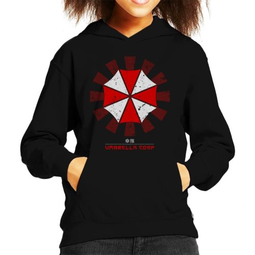 Umbrella Corp Retro Japanese Resident Evil Kid's Hooded Sweatshirt