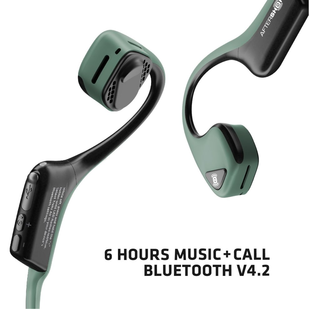 dc41135a985 ... Forest AfterShokz Trekz Air Sweatproof Bone Conduction Bluetooth  Headphones Wireless Earphones with Mic for Running, ...