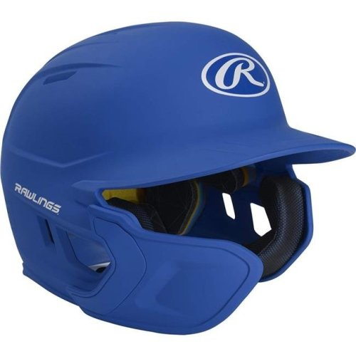 Rawlings 1113848 Mach Extension Batting Helmet with Junior Left-Handed - Royal