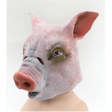 Pig Overhead Rubber Animal Mask -  mask pig rubber overhead fancy dress animal costume