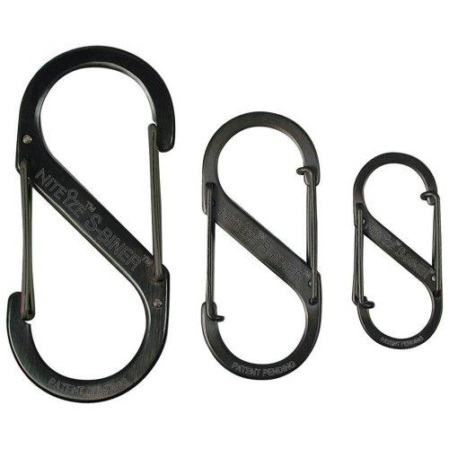 NiteIze S-Biner 3-Pack - Black